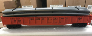 "MTH 20-95267 - Gondola Car ""Bessemer & Lake Erie"" w/ Pipe Load"