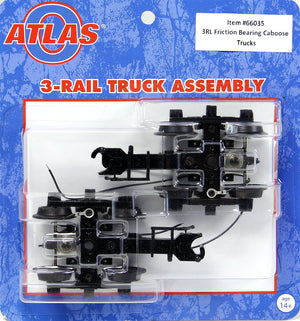 Atlas O 66035 - Friction Bearing Caboose Trucks (3-Rail)