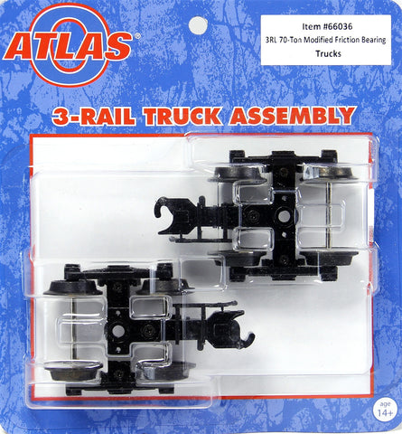 Atlas O 66036 - 3-Rail 70-Ton Modified Friction Bearing Trucks