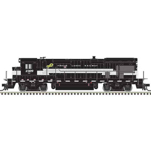 Atlas HO 10003625 - HO B23-7 Locomotive - Finger Lakes 2309 (Black/Gray/White)