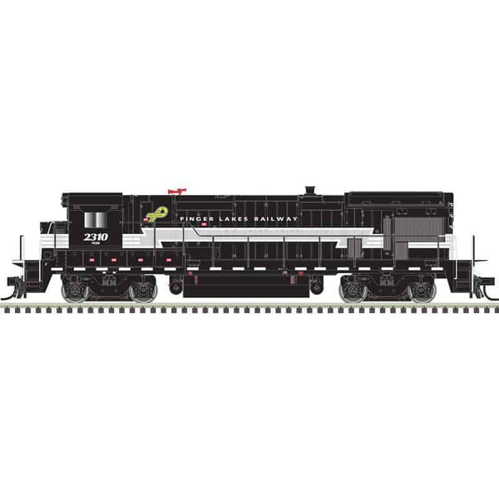 Atlas HO 10003626 - HO B23-7 Locomotive - Finger Lakes 2310 (Black/Gray/White)