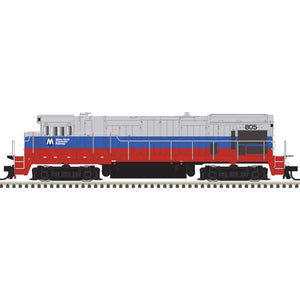 Atlas HO 10003629 - HO B23-7 Locomotive - Metro-North 803 (Blue/Red/Silver)