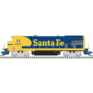 Atlas HO 10003631 - HO B23-7 Locomotive - Santa Fe 6396 (Blue/Yellow)