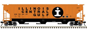 "Atlas O 2001604 - Trainman - PS-4750 Covered Hopper ""Illinois Central Gulf"""