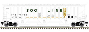 "Atlas O 2001606 - Trainman - PS-4750 Covered Hopper ""SOO Line"""