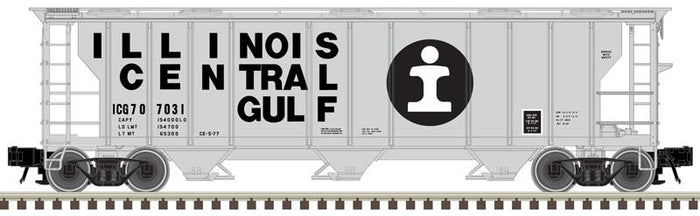 "Atlas O 2002516 - Trainman - 3-Bay PS-2 Covered Hopper ""Illinois Central Gulf"""