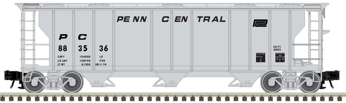 "Atlas O 2002567 - Trainman - 3-Bay PS-2 Covered Hopper ""Penn Central"" (2-Rail)"