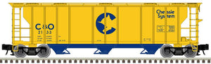 "Atlas O 2002518 - Trainman - 3-Bay PS-2 Covered Hopper ""Chessie System C&O"""