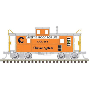 "Atlas O 2003064 - Trainman - C&O Cupola Caboose ""Chessie System"" (2-Rail)"