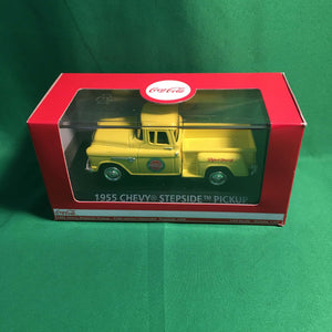 "Atlas O 25 000 019 - 1955 Chevy Pickup Stepside ""Coca-Cola"" (Yellow) 1/43"