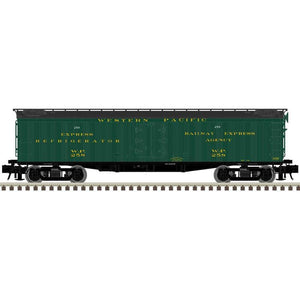 "Atlas O 3001009 - 53' 6"" Wood Express Reefer Car ""Western Pacific"""