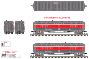 "Atlas O 30077MON - Express Box Car ""Monon"" (Red / Grey Scheme) Custom Run for MrMuffin'sTrains"
