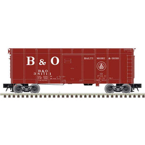 "Atlas O 3007907 - 40' Wagon Top Box Car ""Baltimore & Ohio"" (Dual Circle)"