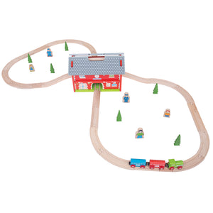 BigJigs BJT024 - Railway Station Carry Set