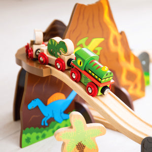 BigJigs BJT035 - Dinosaur Railway Train Set