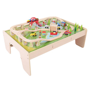 BigJigs BJT040 - Services Train Set & Table