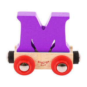 BigJigs BR113 - Rail Name Letter M (Colors Vary)