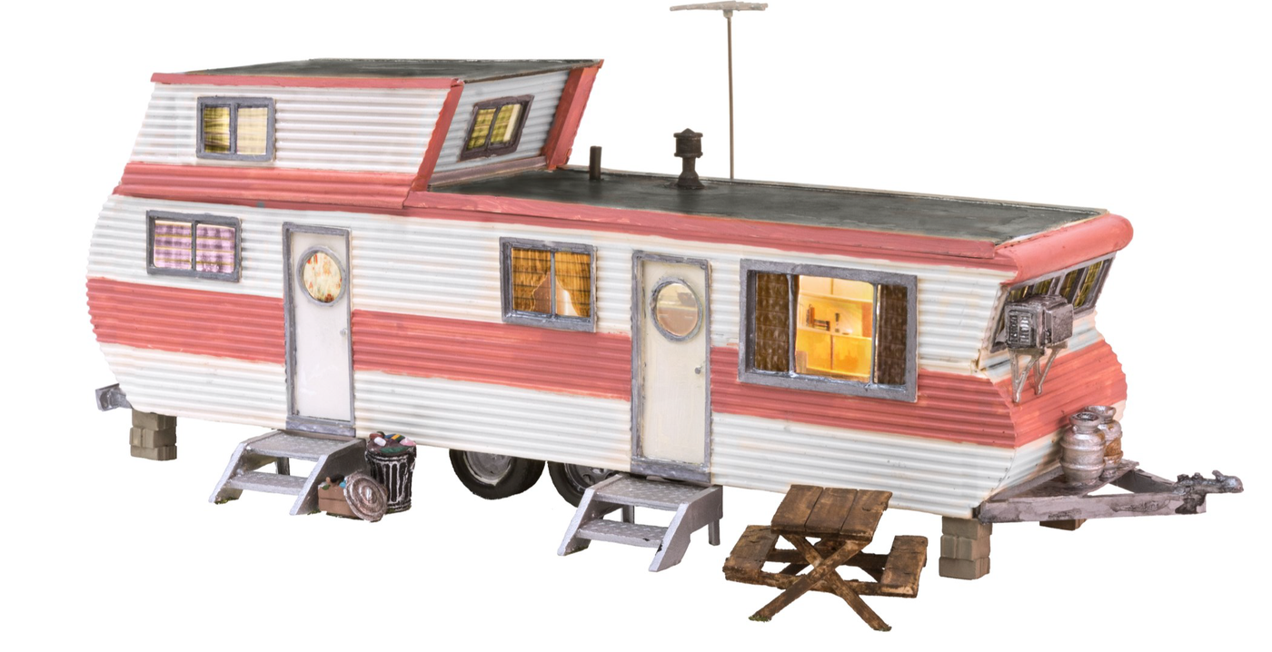 New Woodland Grillin/' /& Chillin/' Trailer O Scale BR5861