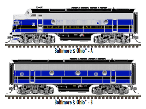 "Atlas O 30136016 - Master - TMCC - EMD F3B Phase 2 Early ""Baltimore & Ohio"" (Powered)"