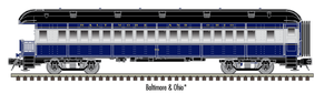 "Atlas O 2002758 - Trainman - 60' Observation Car ""Baltimore & Ohio"" 2-Rail"