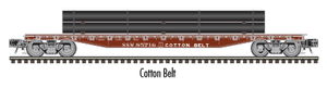 "Atlas O 2002008 - 52'6' Flat Car ""Cotton Belt"" w/ Load"