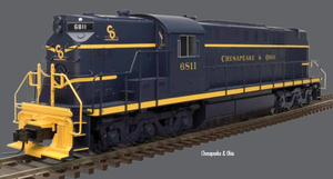 "Atlas O 20040019 - Trainman - DC - RSD-7/15 Locomotive ""Chesapeake & Ohio"" #6801 - 2 Rail"