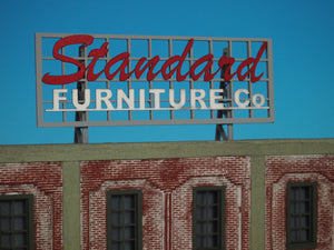 "Korber Models #D0022 - O Scale - Roof Top Sign ""Standard Furniture"" Kit"