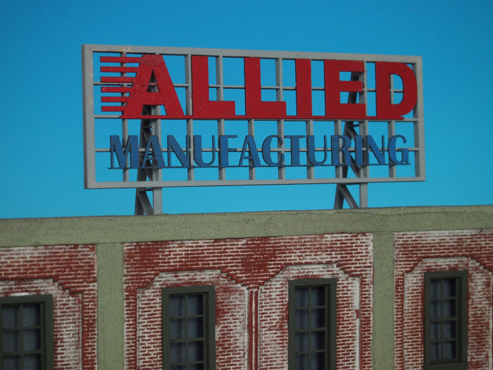 "Korber Models #D0023 - O Scale - Roof Top Sign ""Allied Manufacturing"" Kit"