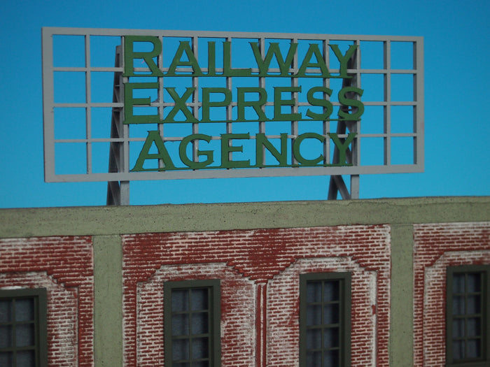 "Korber Models #D0026 - Roof Top Sign ""Railway Express Agency"""