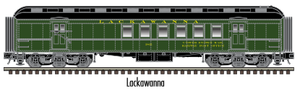 "Atlas O 2001421 - Trainman - 60' RPO Car ""Lackawanna"""