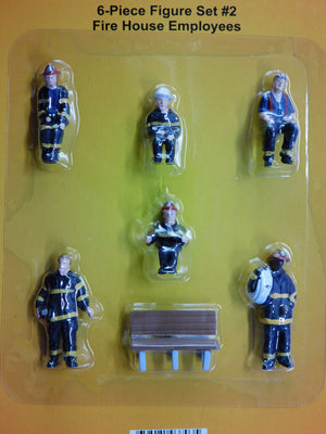 MTH 30-11046 - Fire House Employees - Figure Set #2 (6-Piece)