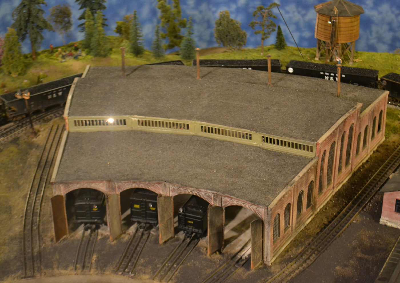 Korber Models #304 - O Scale - 3 Stall Roundhouse Kit on lionel train track layout plans, railroad yards in chicago, railroad structure plans, railroad stations, walthers track plans, railroad roundhouses missouri, railroad engine shed plans, railroad shops, railroad roundhouses chicago, railroad roundhouses in ohio, o gauge turntable plans, railroad turntable, railroad yard design, ho scale turntable plans, railroad tracks, railroad water tower plans, 4x8 ho track plans, on30 track plans,