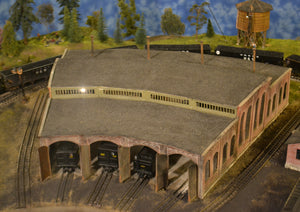 Korber Models #304 - O Scale - 3 Stall Roundhouse Kit