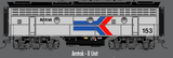"Atlas O 30124040 - F-7 Locomotive ""Amtrak"" (Un-Powered) - B Unit (2-Rail)"