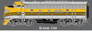 "Atlas O 30134010 - Master - TMCC - F-7 Locomotive ""Rio Grande"" (Powered) - A Unit"