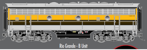"Atlas O 30134026 - F-7 Locomotive ""Rio Grande"" (Powered) - B Unit"