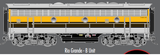 "Atlas O 30124025 - F-7 Locomotive ""Rio Grande"" (Powered) - B Unit (2-Rail)"