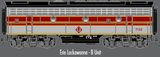 "Atlas O 30124020 - F-7 Locomotive ""Erie Lackawanna"" (Powered) - B Unit (2-Rail)"