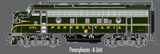 "Atlas O 30134009 - F-7 Locomotive ""Pennsylvania"" (Powered) - A Unit"
