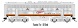 "Atlas O 30124027 - F-7 Locomotive ""Santa Fe"" (Powered) - B Unit (2-Rail)"