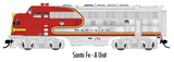 "Atlas O 30134014 - F-7 Locomotive ""Santa Fe"" (Powered) - A Unit 41L"