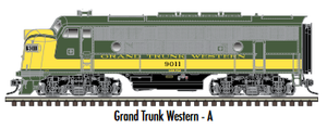 "Atlas O 30136009 - Master - TMCC - EMD F3A Phase 2 Early ""Grand Trunk Western"" #9011 (Powered)"