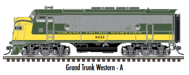 "Atlas O 30136008 - Master - TMCC - EMD F3A Phase 2 Early ""Grand Trunk Western"" (Powered)"