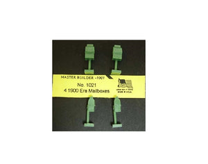 Korber Models #1021 - HO Scale - 1960 Era Mailboxes (4-Pack)