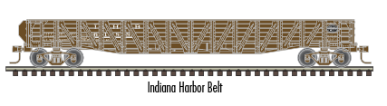 "Atlas O 2002852 - Trainman - 52'6"" 70-Ton War Emergency Gondola ""Indiana Harbor Belt"" 2-Rail"