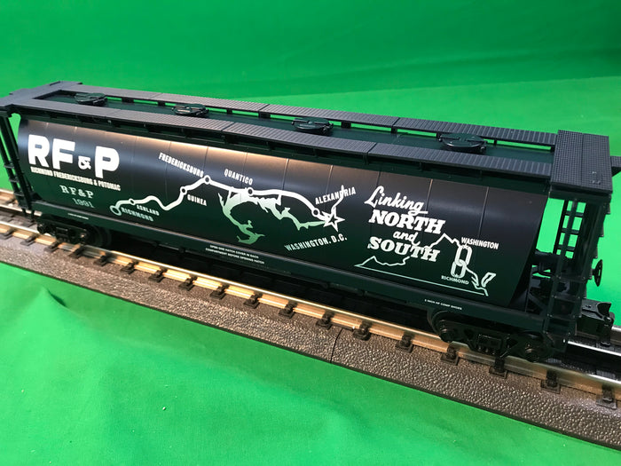 "MTH 30-75631 - 4-Bay Cylindrical Hopper Car ""Richmond Fredericksburg & Potomac"""