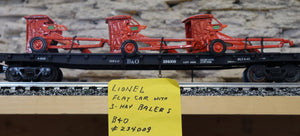 "Lionel - Flat Car ""Baltimore & Ohio"" w/ 3 Hay Balers - Second Hand"