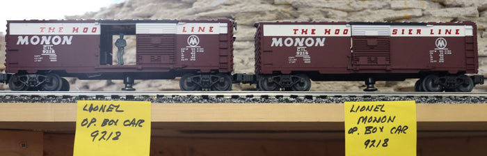 Lionel Operating Box Car - A Pair- Monon - Second Hand