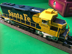 "MTH 20-21098-1 - GP-40 Diesel Engine ""Santa Fe"" #2965 w/ PS3 (Hi-Rail Wheels)"