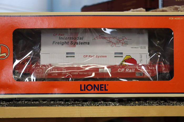 "Lionel 6-52195 - LCCA 2000 Double Stack Flat Car ""CP Rail"" - Second Hand"